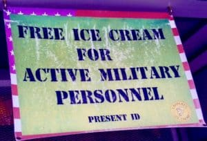 free ice cream sign