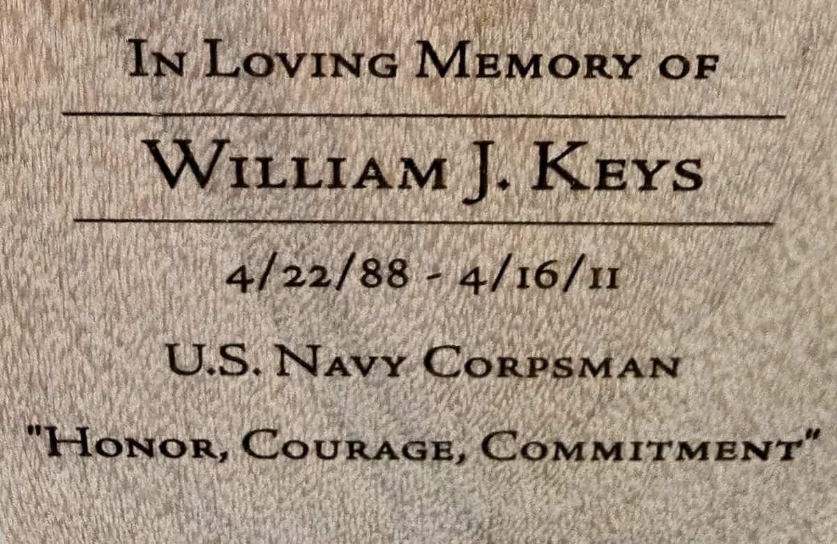bench inscription memorial