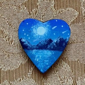 painted blue heart