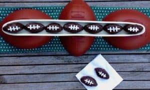 candy shaped like footballs