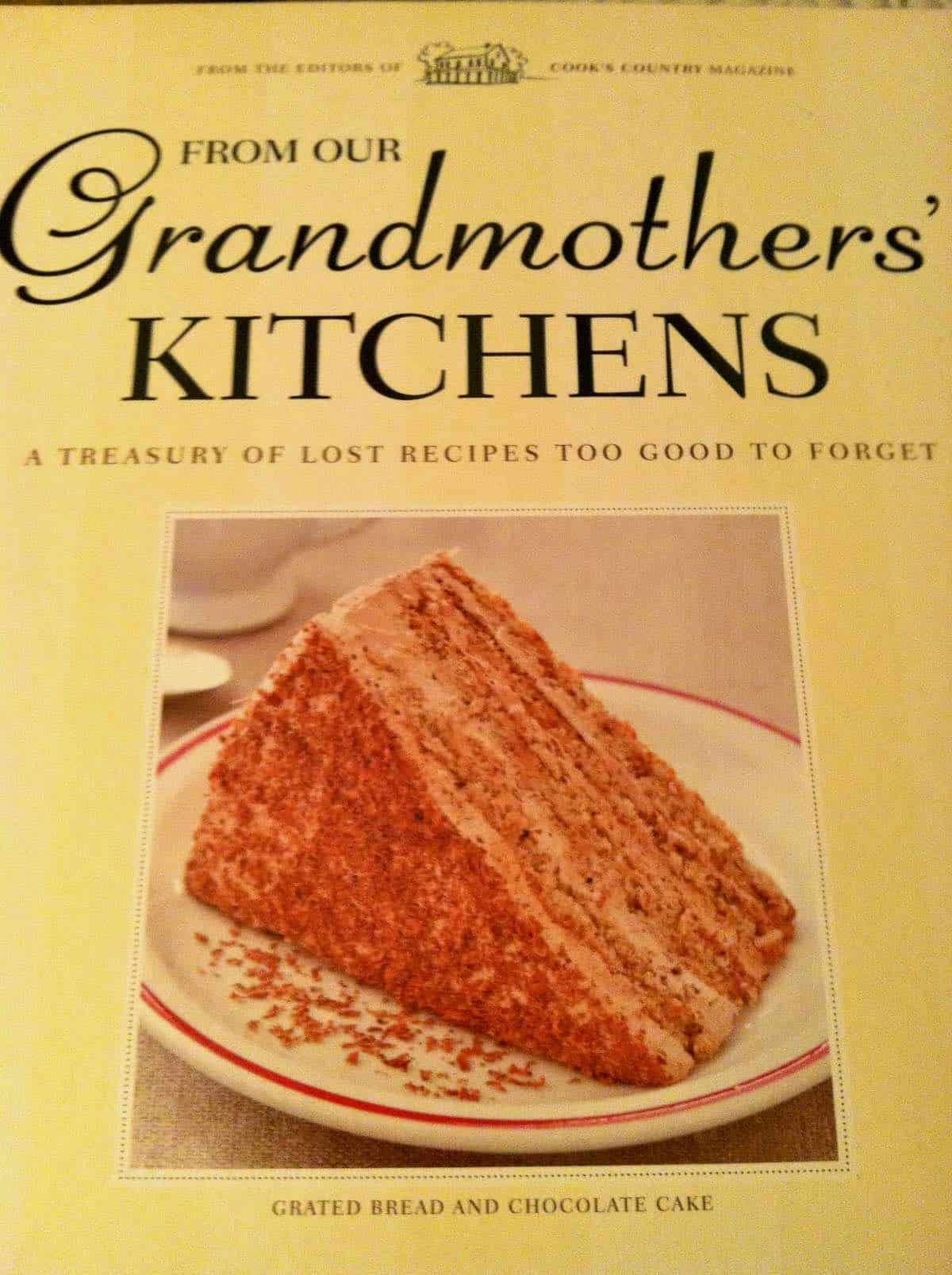 Grandmothers' Kitchen cookbook with my recipe on the cover