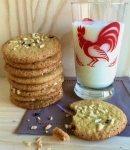 almond cookies and milk