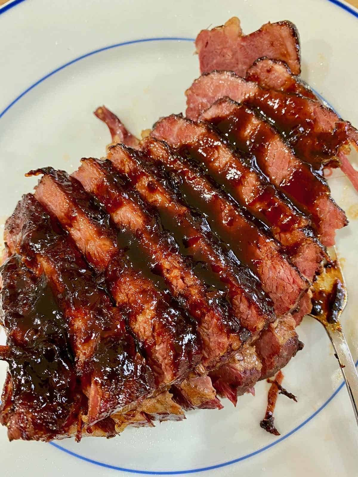sensational whiskey glazed corn beef