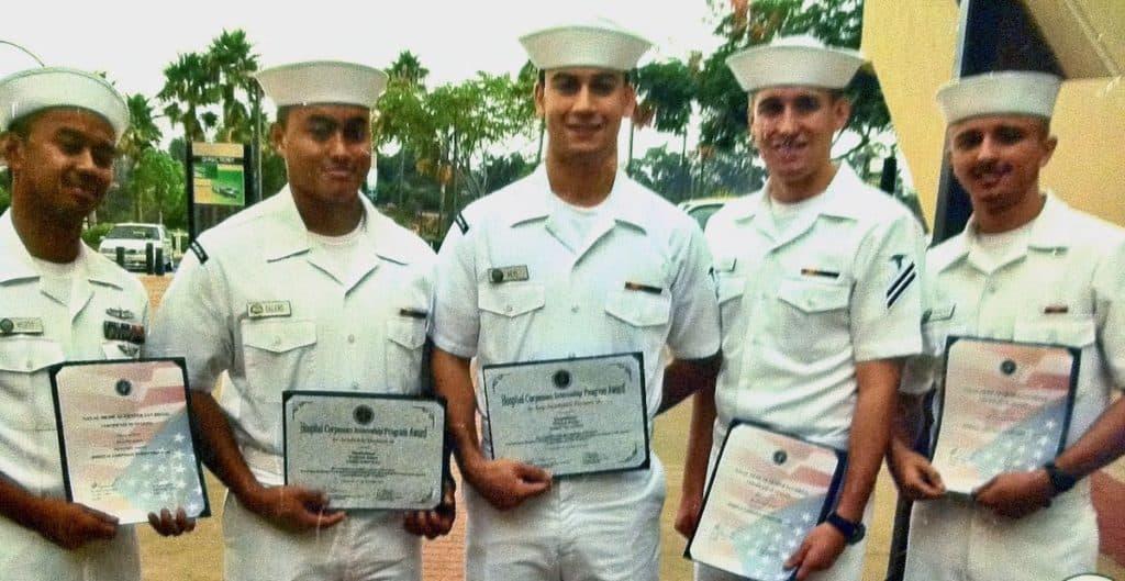 William graduating #1 in corpsman class
