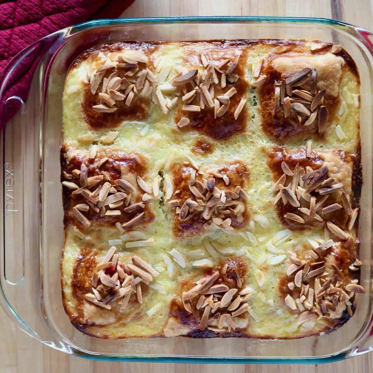 just baked Cranberry Crème Brûlée Breakfast Pastry