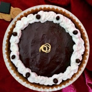 chocolate espresso lemon crusted tart