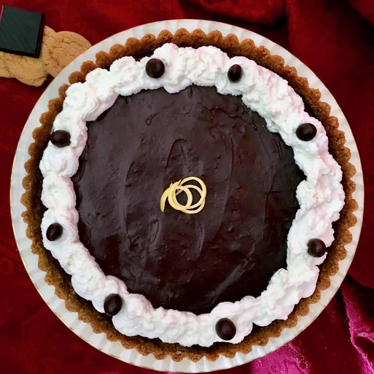 chocolate espresso lemon crusted tart