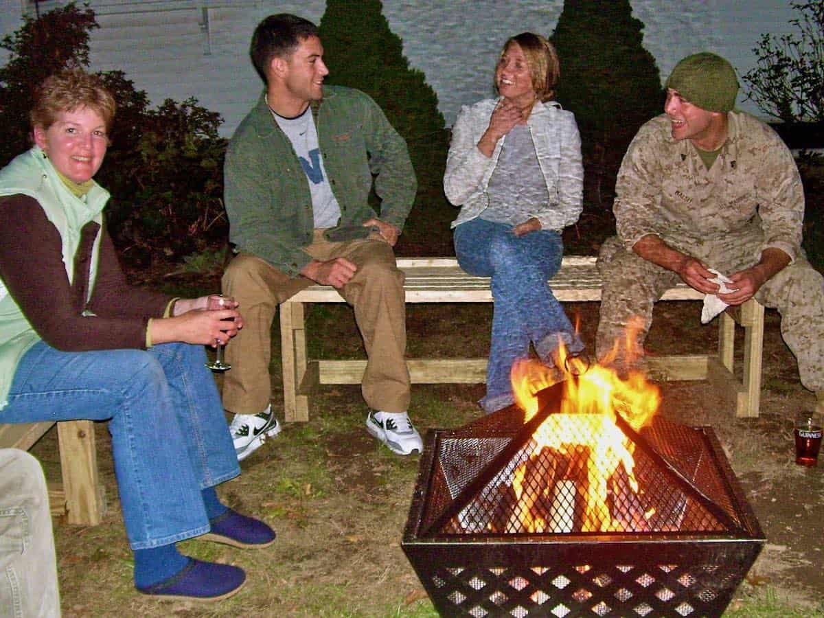 good times around the fire pit