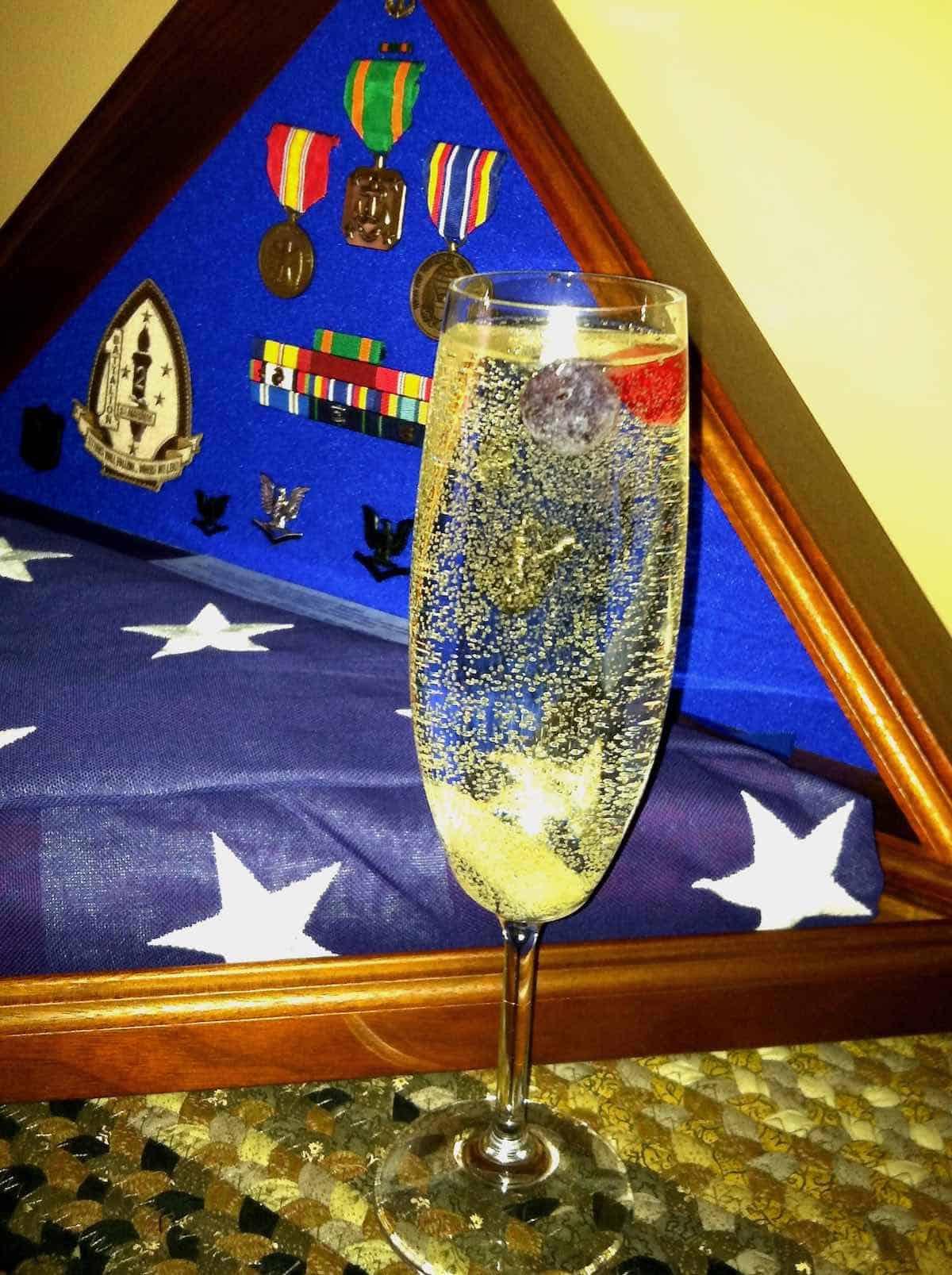 Sweet William's Spirited Sparkler to toast a festive celebration