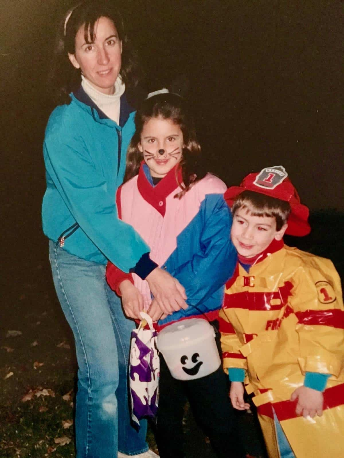 I used to steal all their peanut butter cups Halloween photo of me and kids