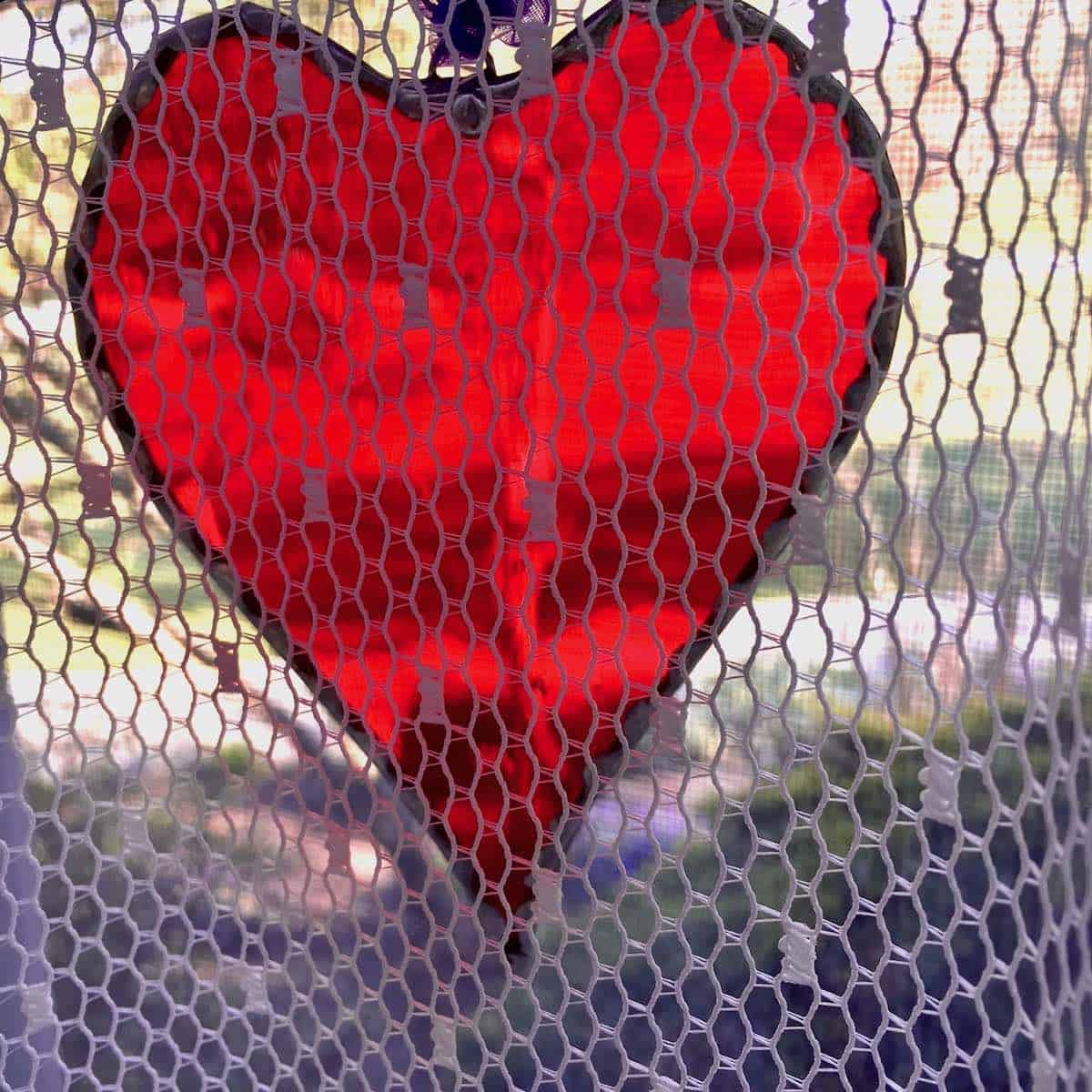 decorative stained glass heart