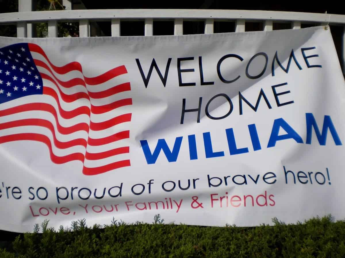 welcome home William sign