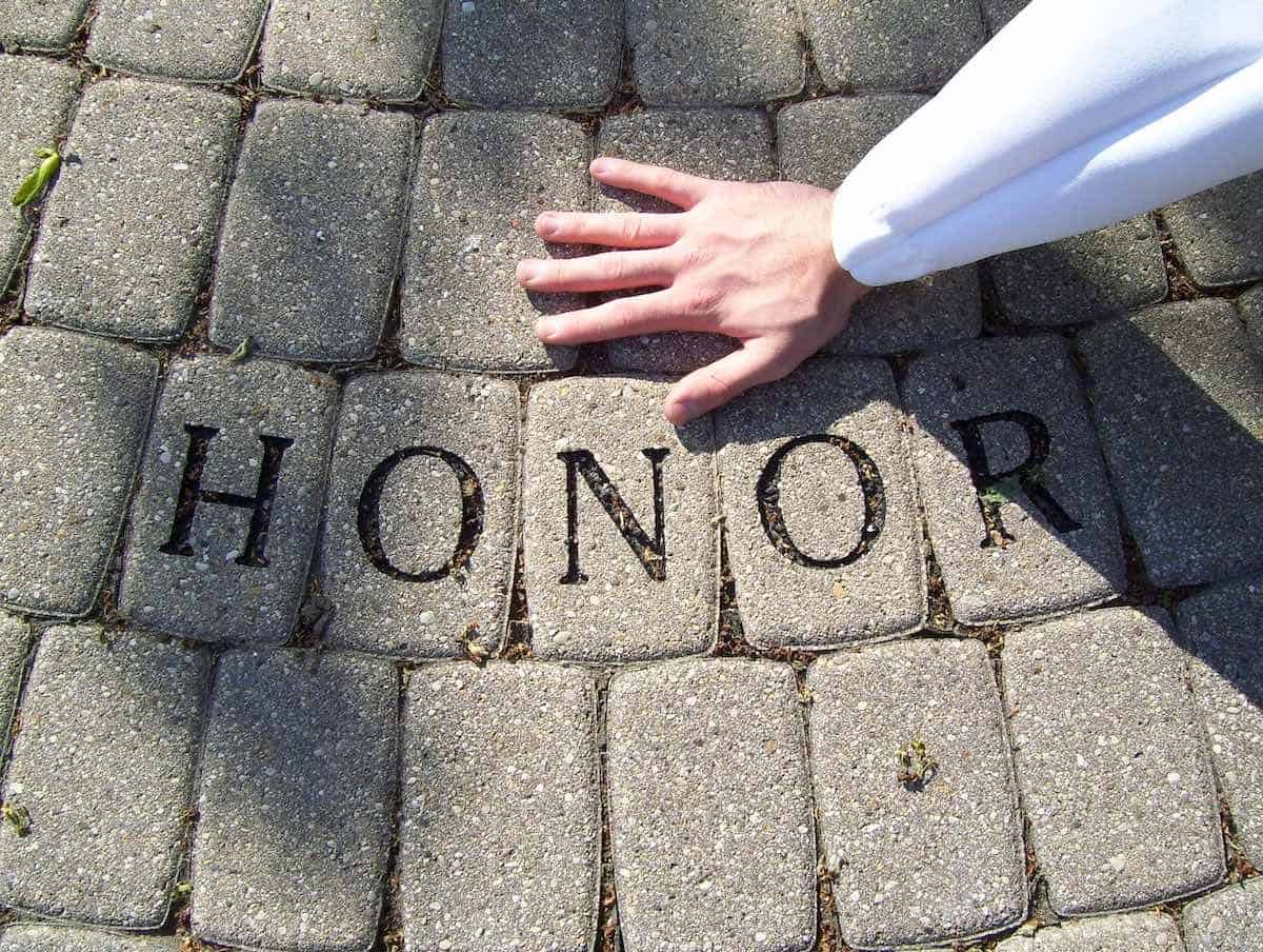 honor sign and Will's hand