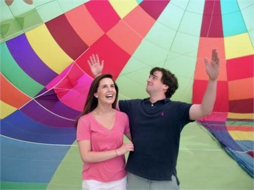 my daughter and son in law in hot air balloon