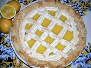 meyer lemon meringue lattice pie