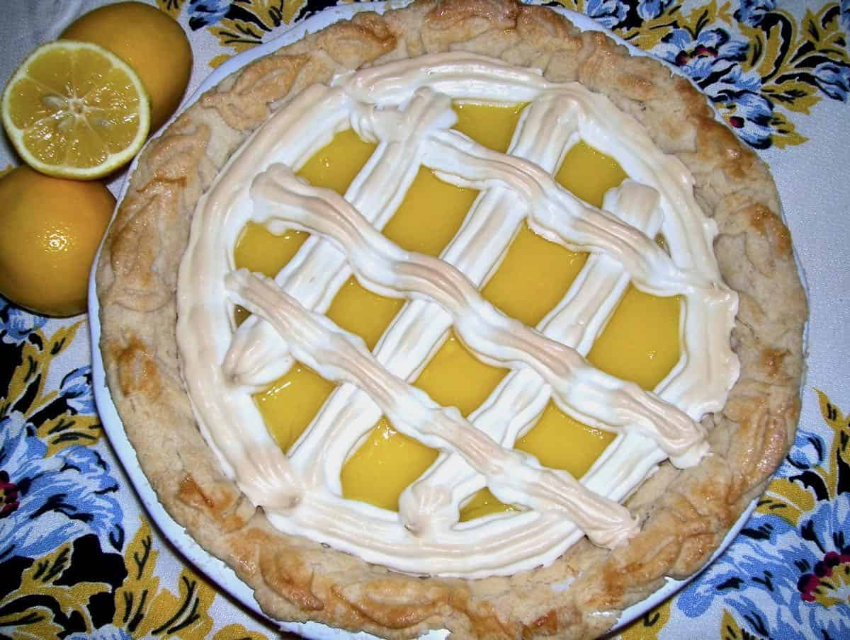 The Prettiest meyer lemon meringue lattice pie