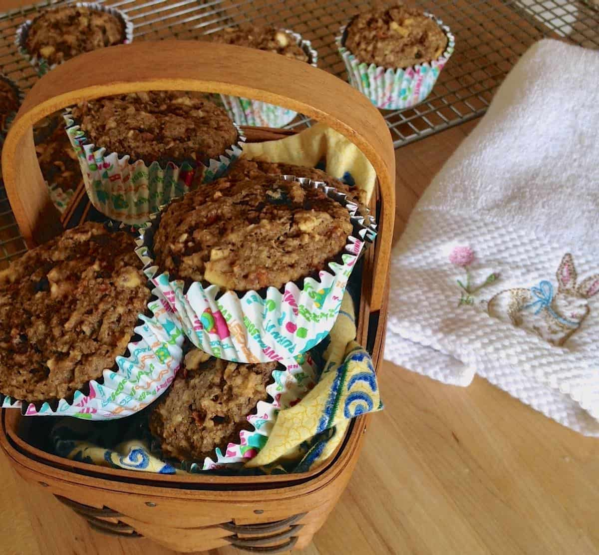 whole grain Easter muffins