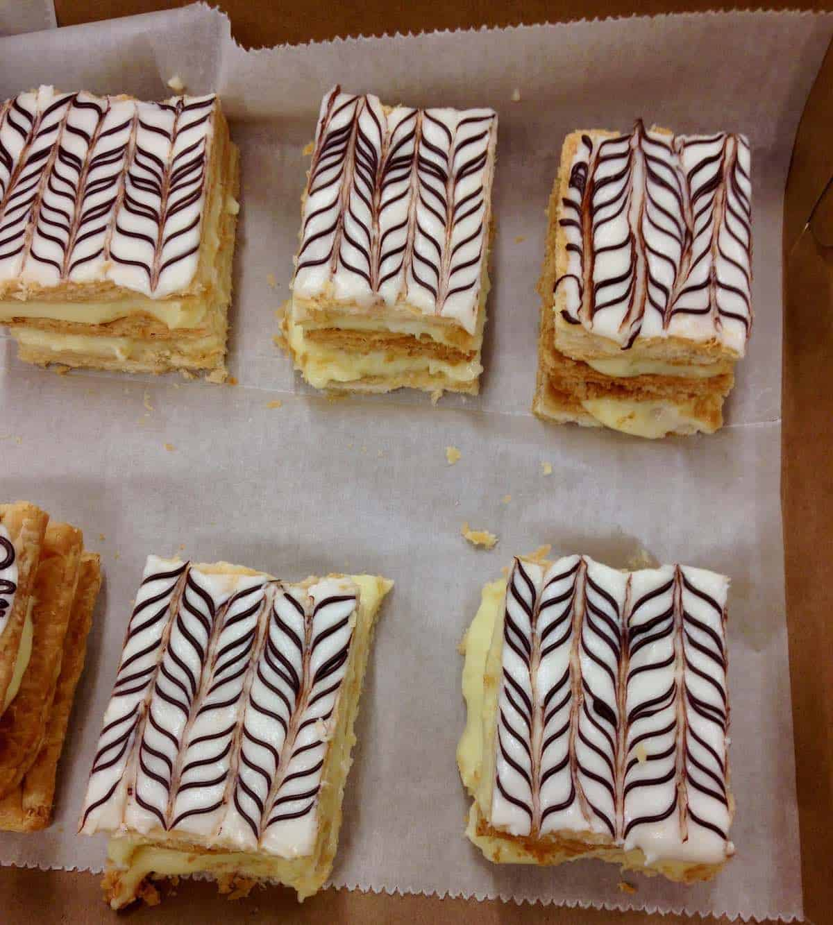 Napoleons really do have 1000 layers of pastry