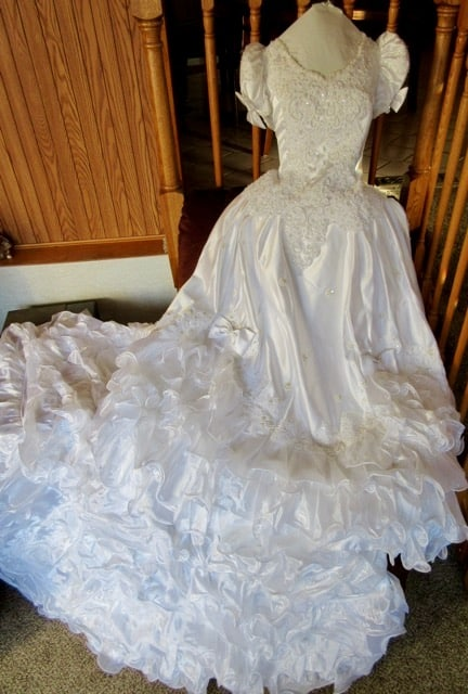 old wedding dress