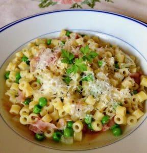 spring peas and pasta
