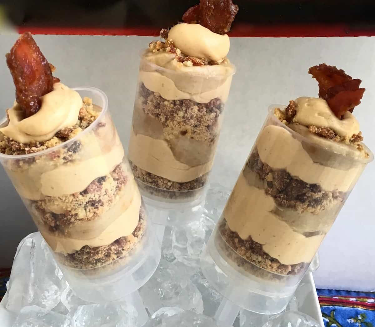peanut butter cream and bacon push up pops