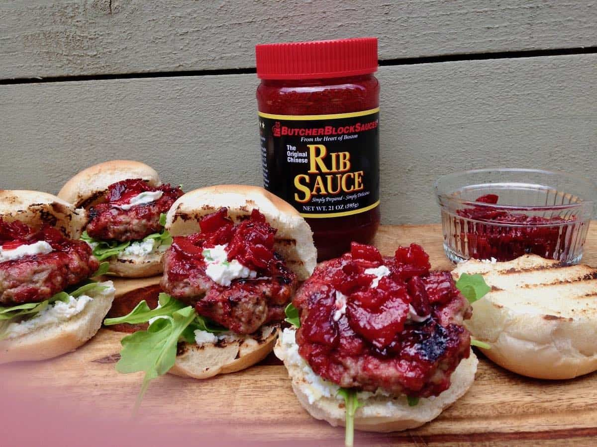 Asian pork sliders with candied bacon