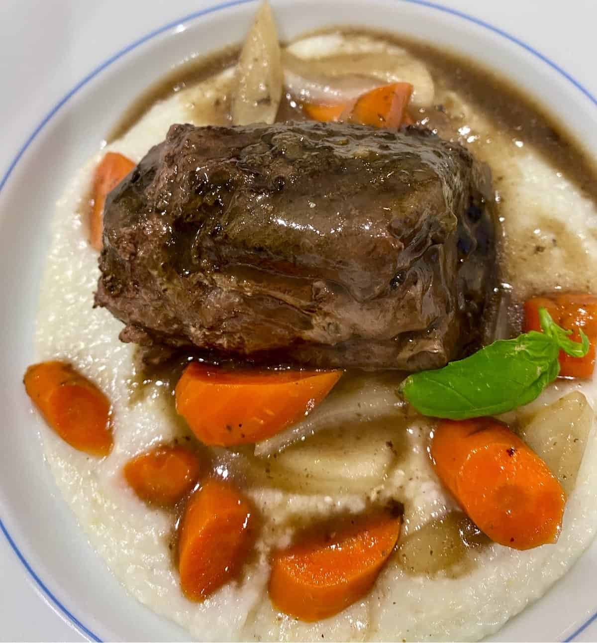 kitchen renovation no reservation needed with sous vide short ribs, carrots and grits made at home