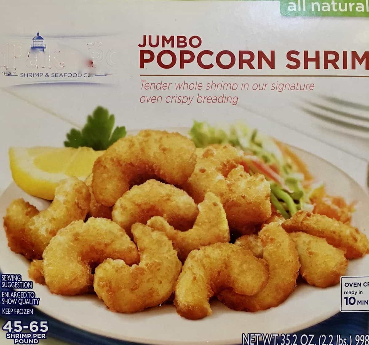 Jumbo popcorn shrimp package
