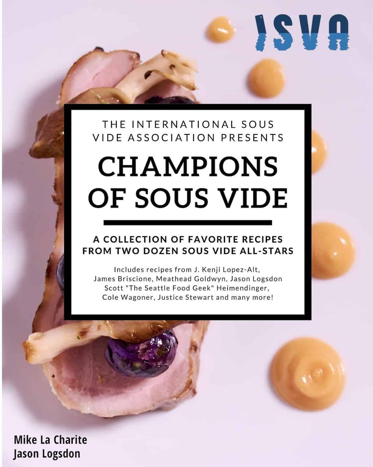 Champions of Sous Vide cookbook provides great learning