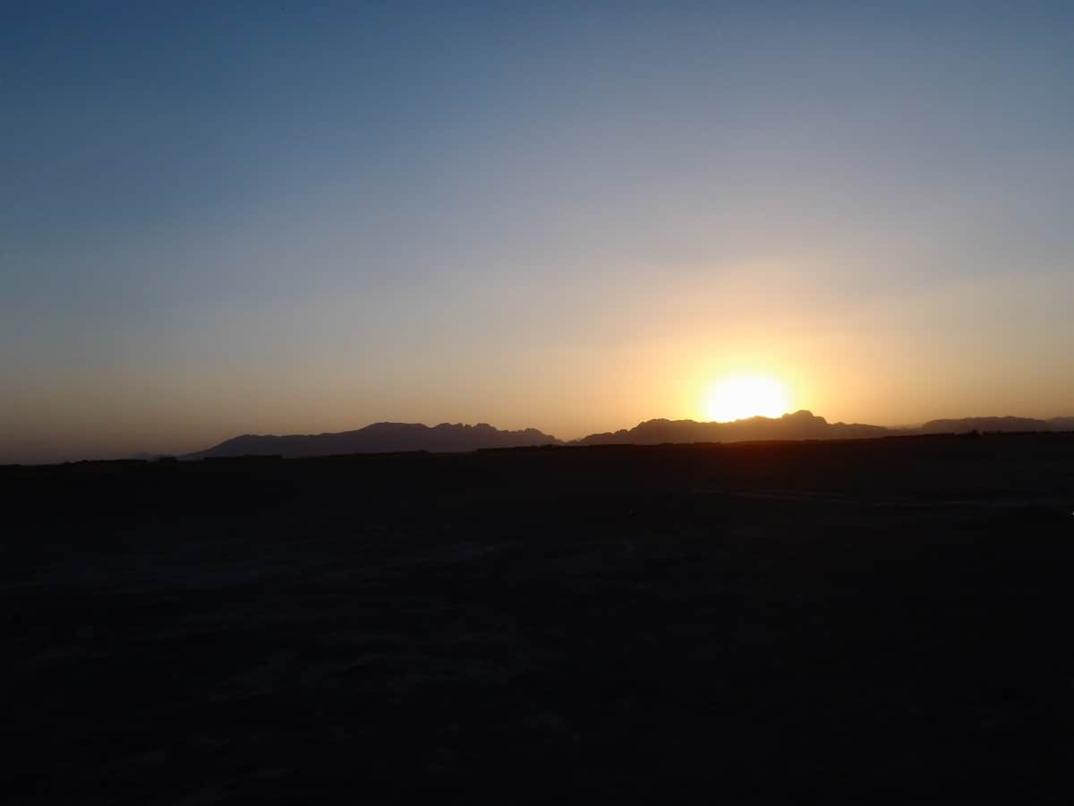 its a new dawn with a sunrise in Afghanistan