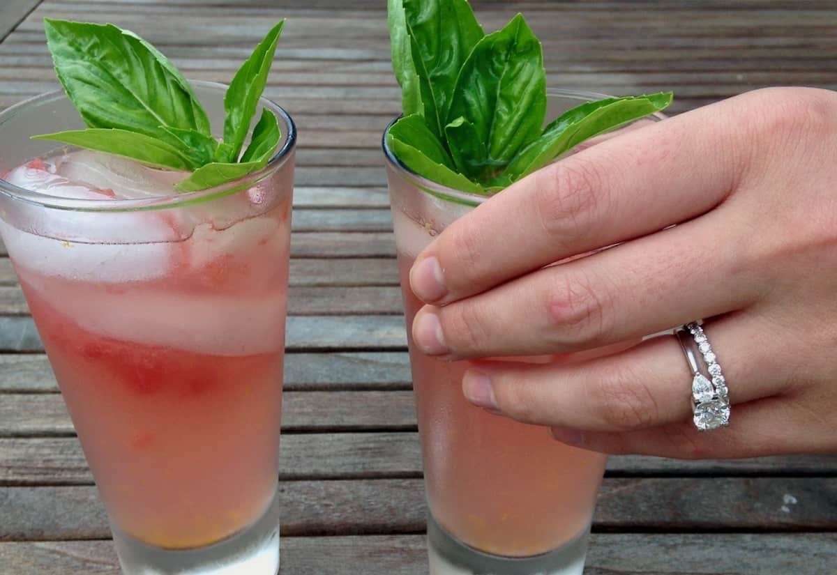 Most Refreshing Watermelon Drinks with basil for two