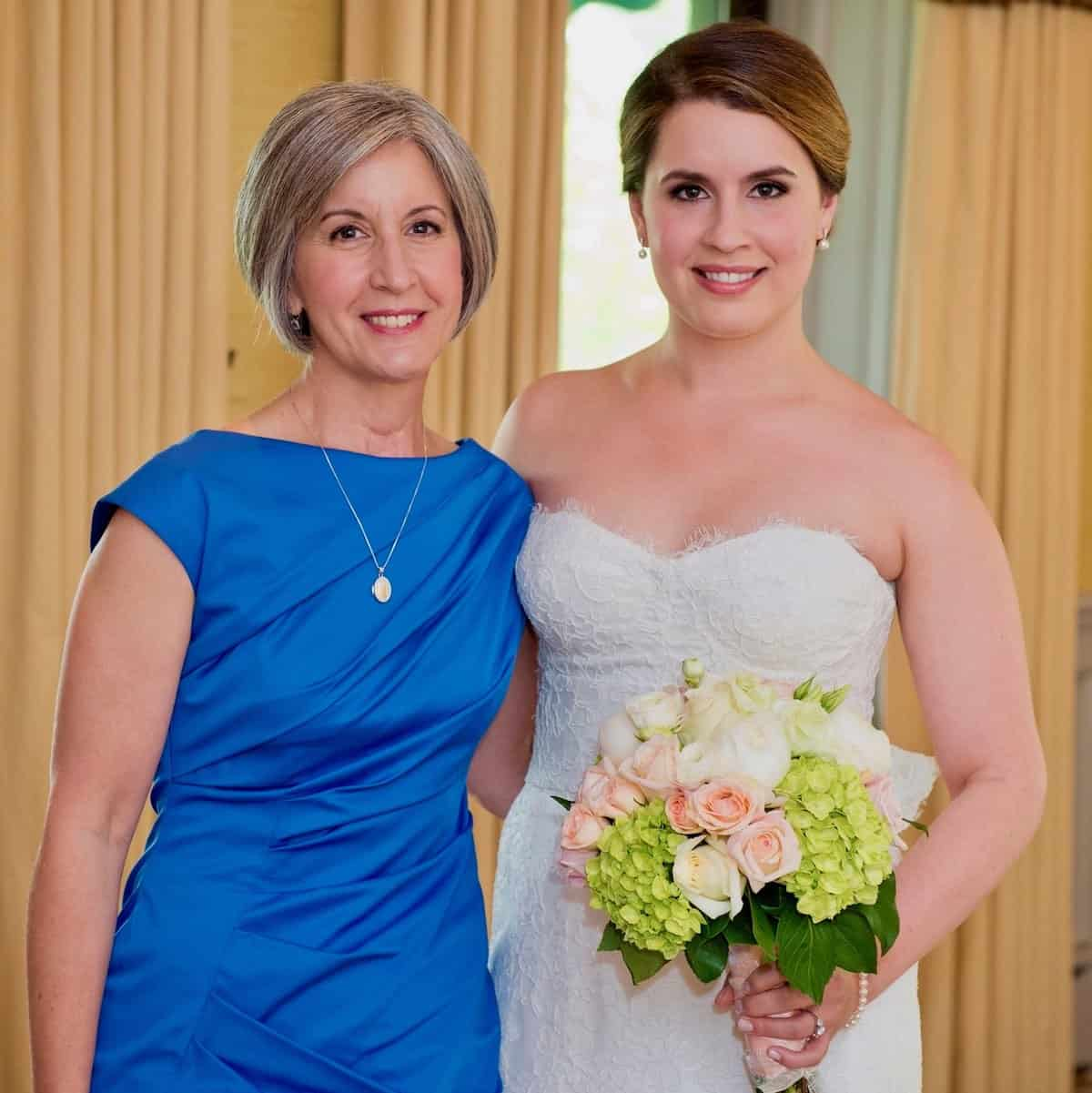 my daughter's wedding day the two of us