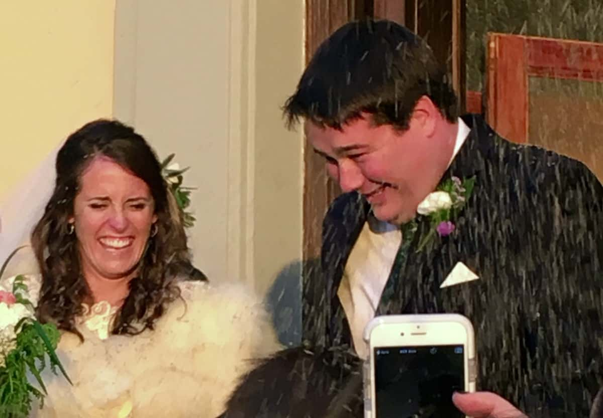 wedding photo of my son's friends