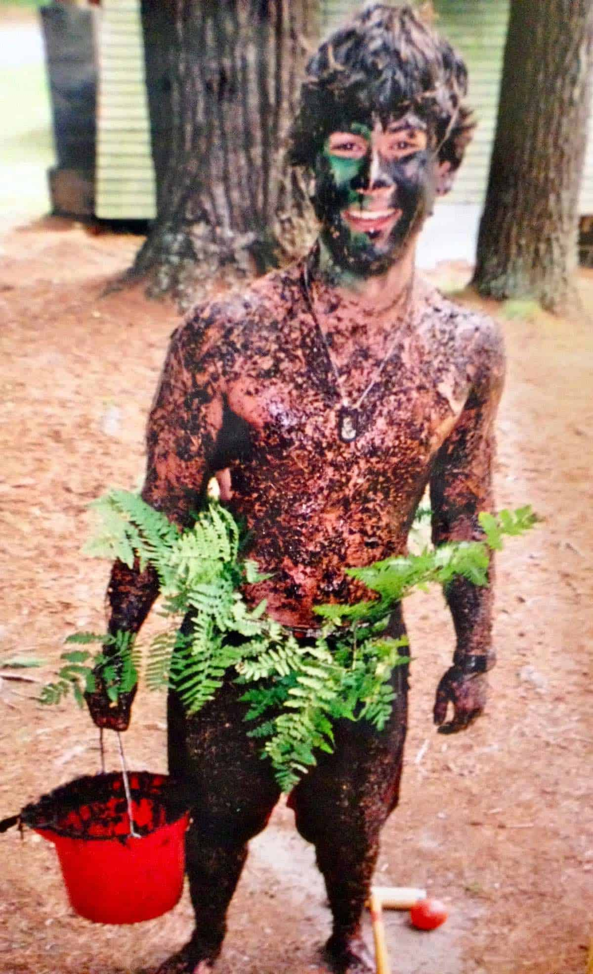 Will drenched in mud camouflage