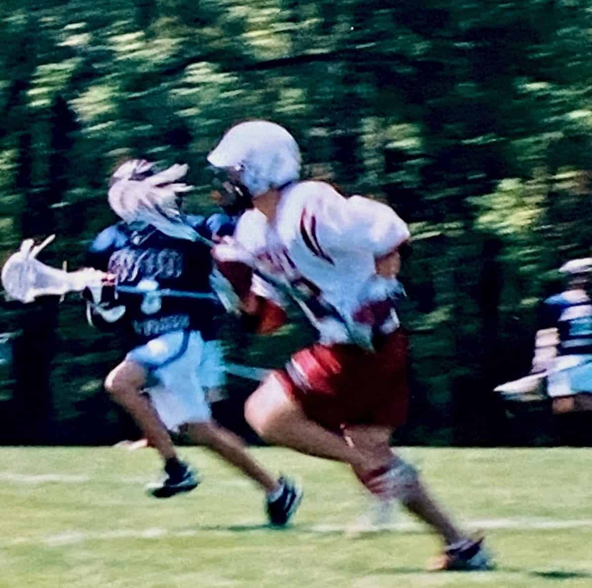 my son playing lacrosse