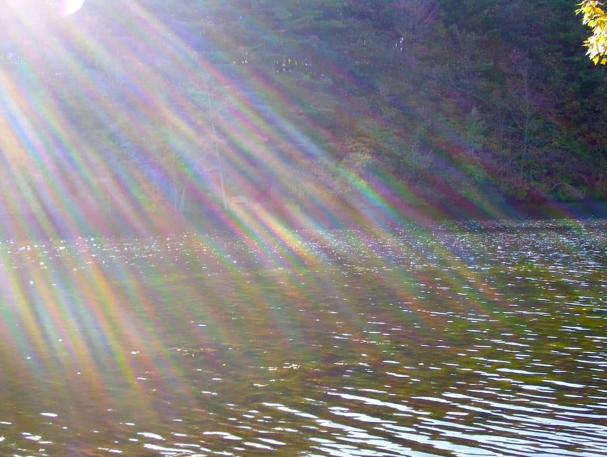 the rainbow shot of Lake Elise