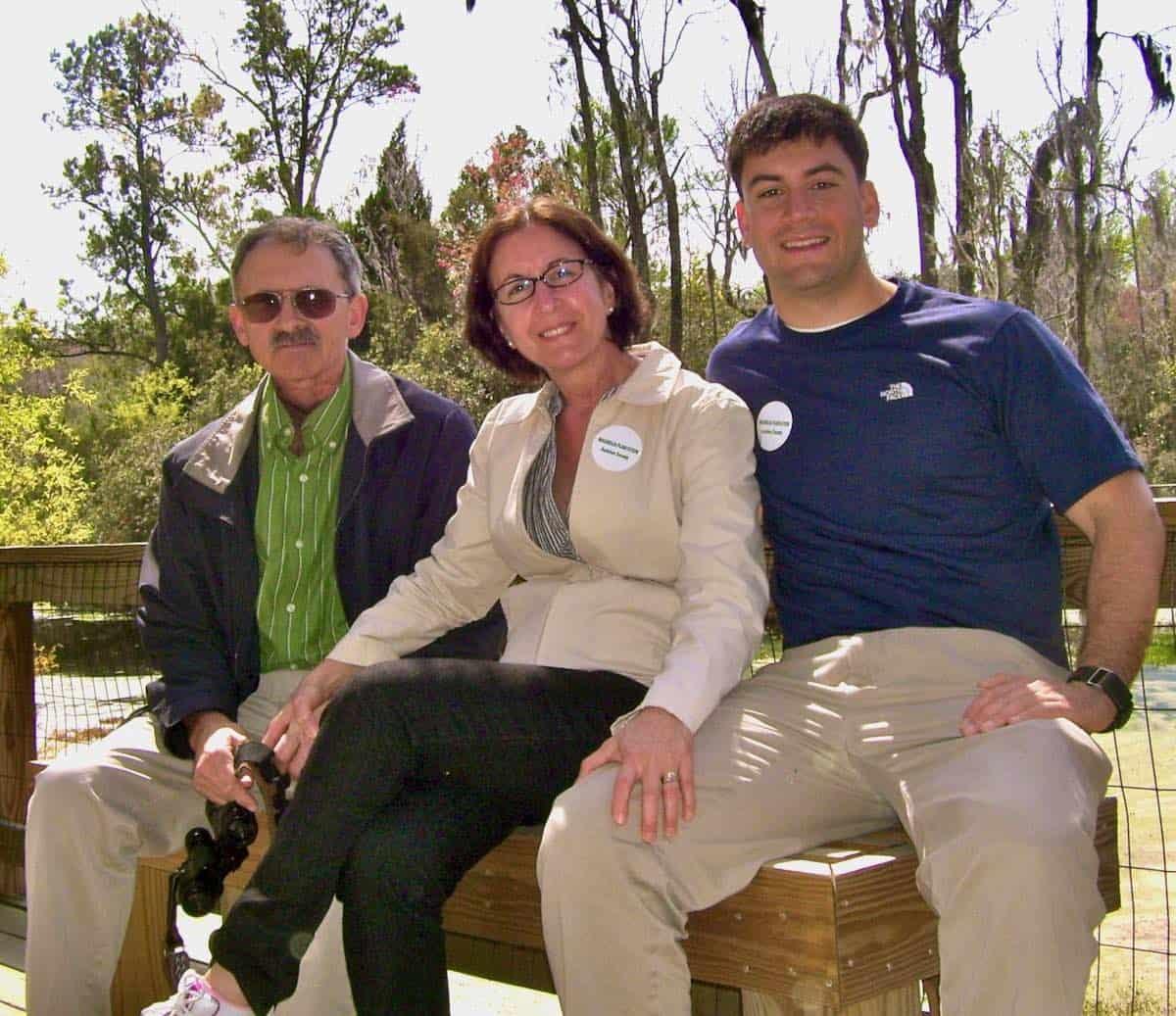 family photo in Charleston