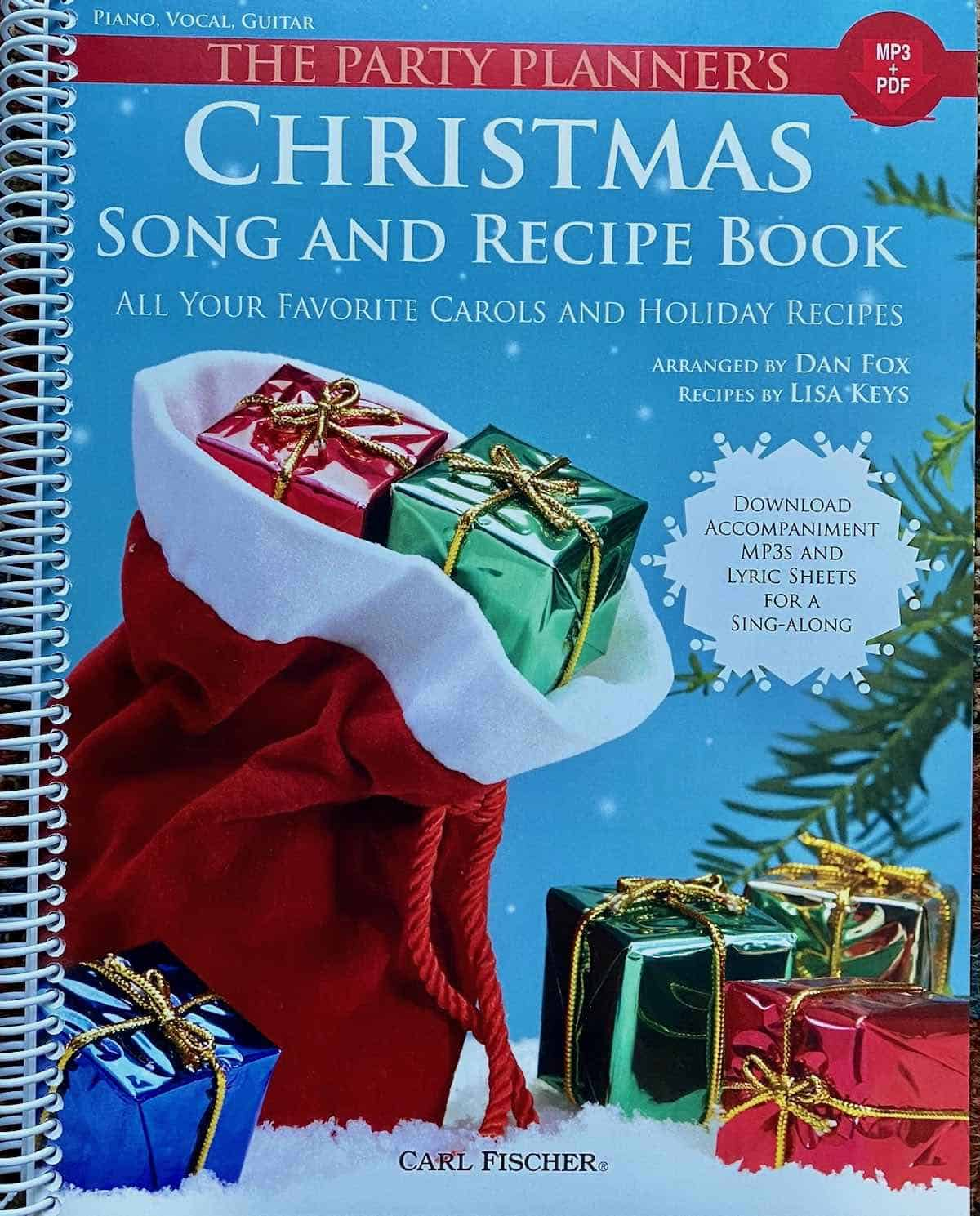 Christmas song and recipe book cover