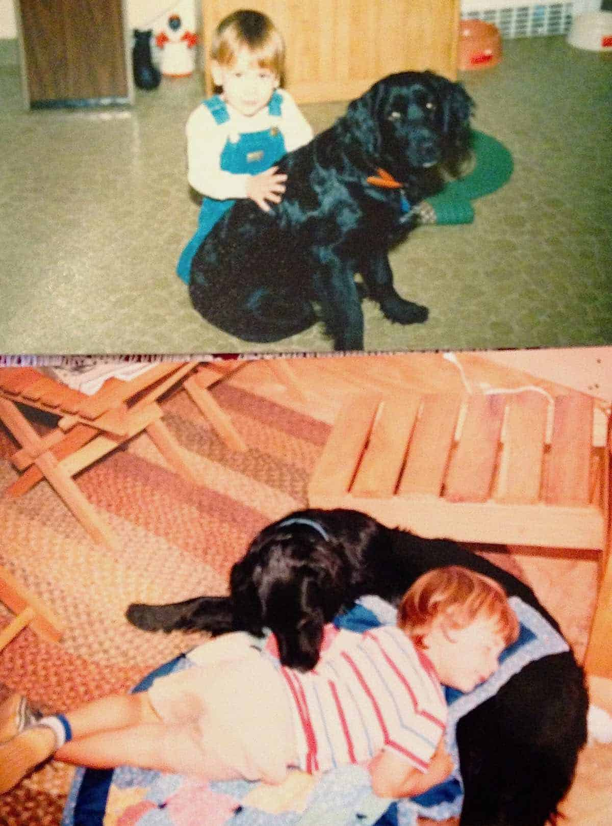 baby Will and our dog Colleen