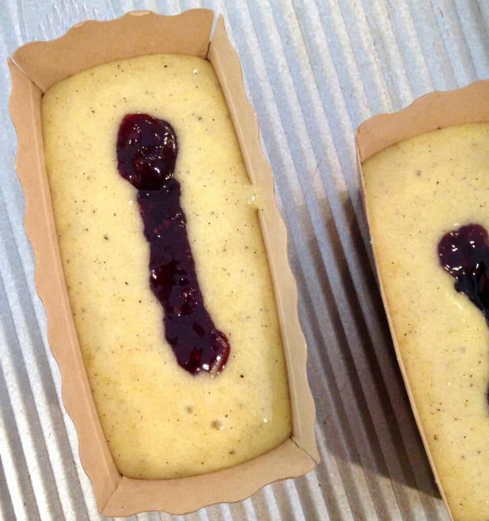 the one with olive oil little blackberry almond cakes