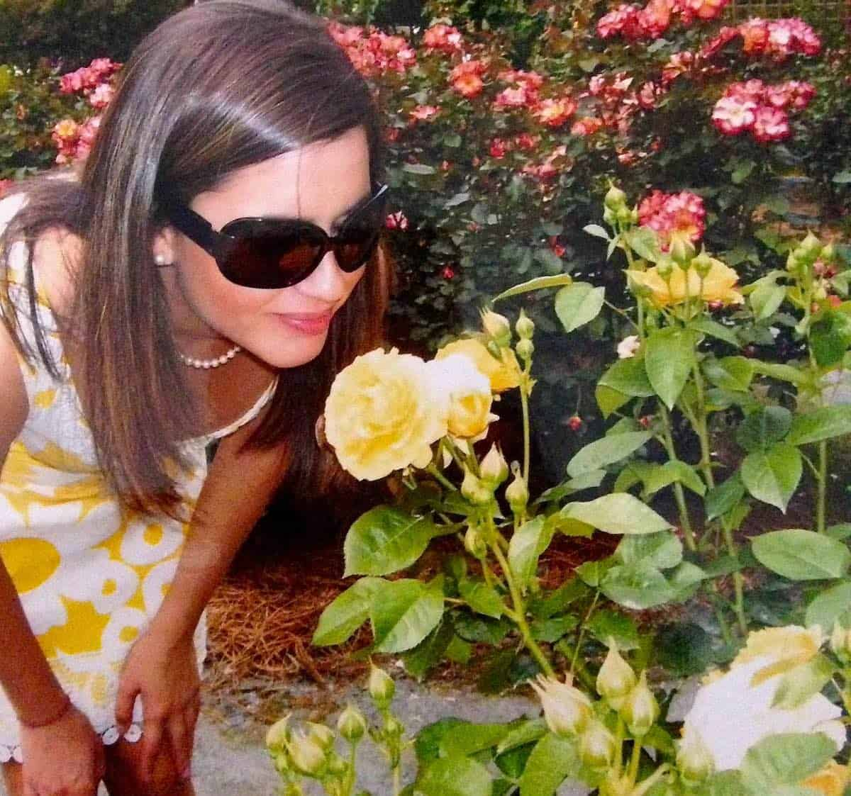 garden therapy with my daughter yellow roses are her favorite