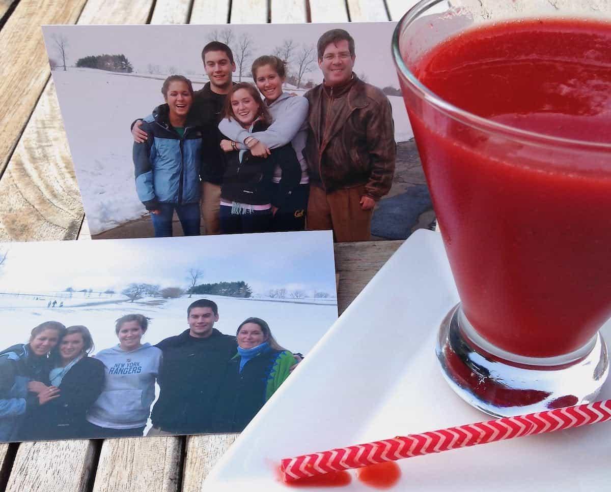 Congratulations, Julia and Van Sant Family celebrate with this Sensational Strawberry Limoncello Martini