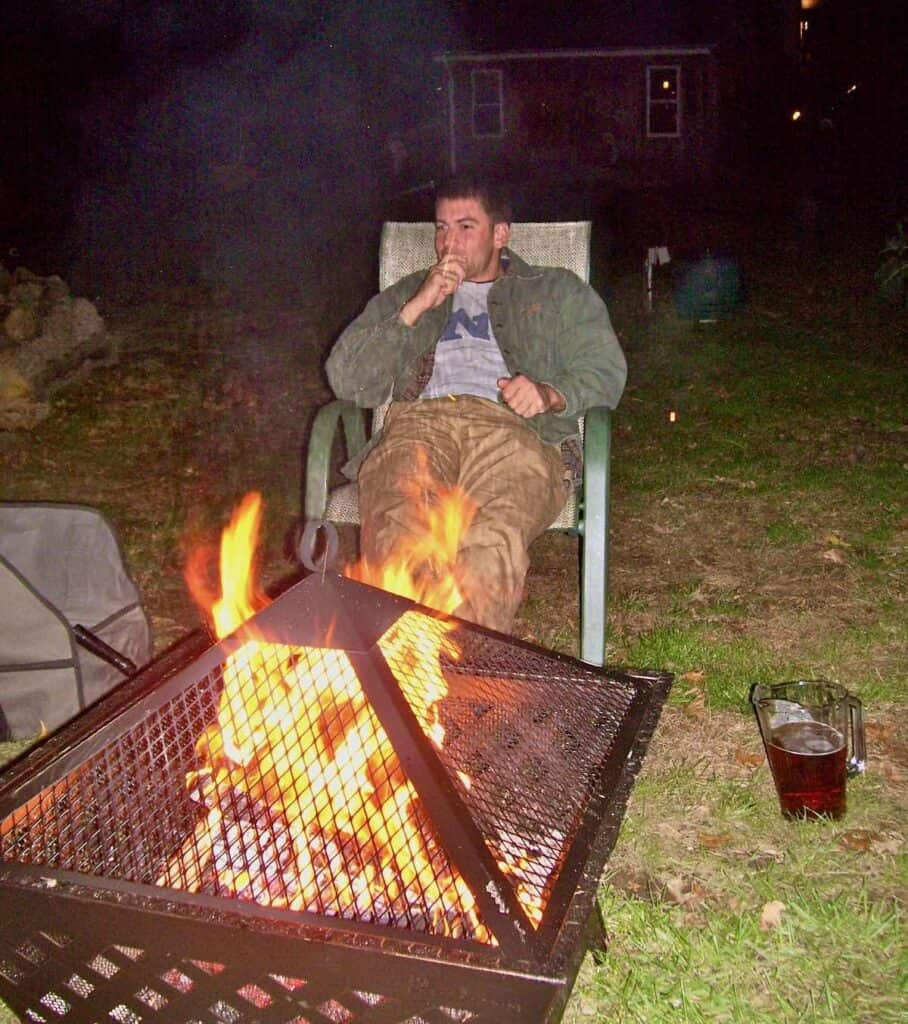 he always loved a good camp fire