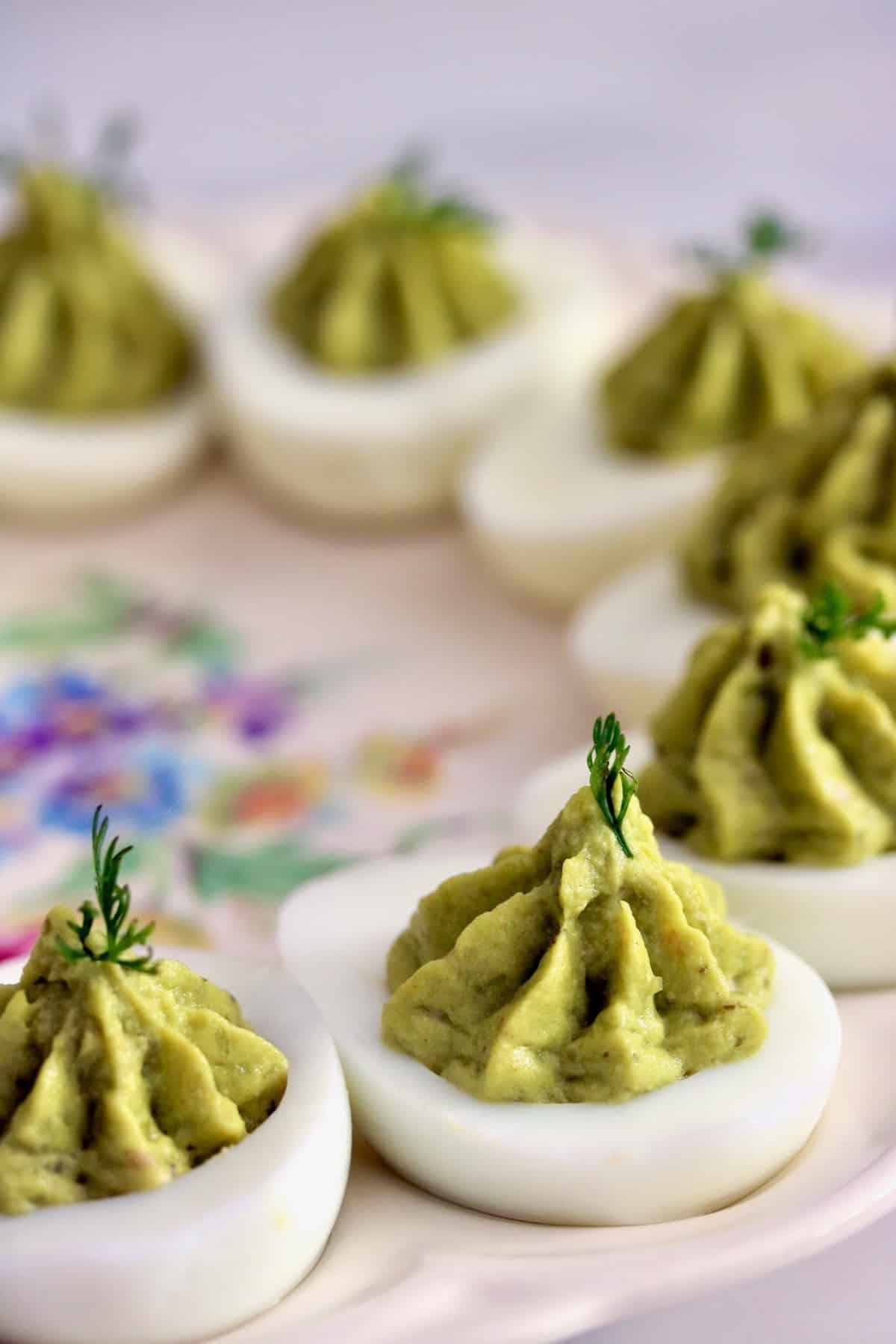 salsa verde deviled eggs are among best salsa summer appetizers