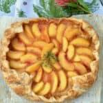 rose petal peach tart