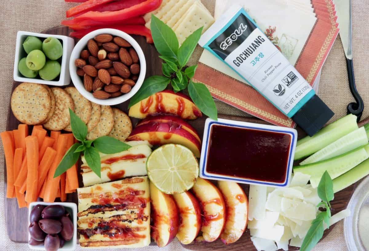 healthier holiday cheese board