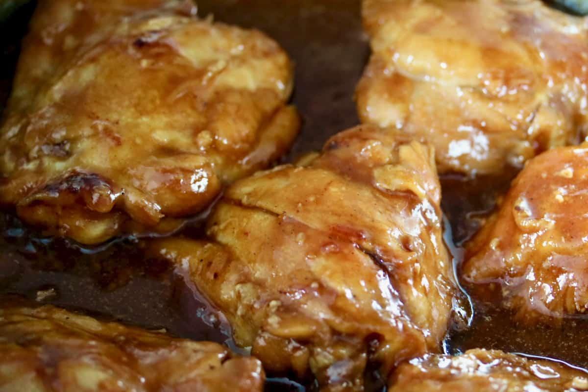 Kalbi sauce braised chicken thighs