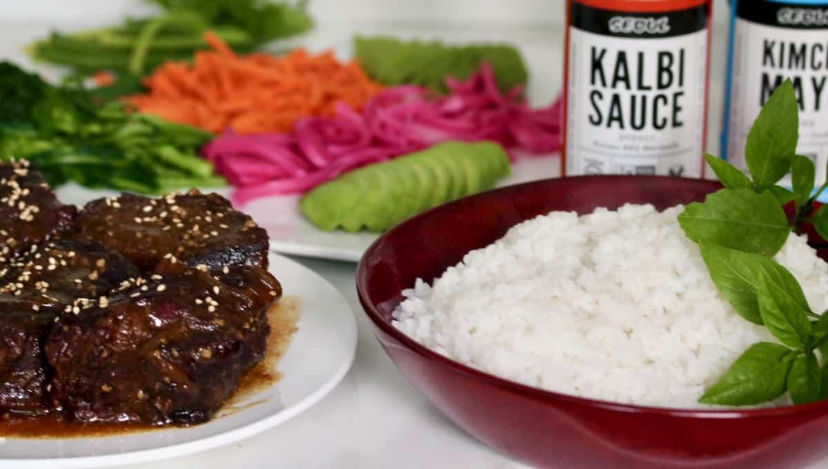 kalbi short rib bowls ingredients