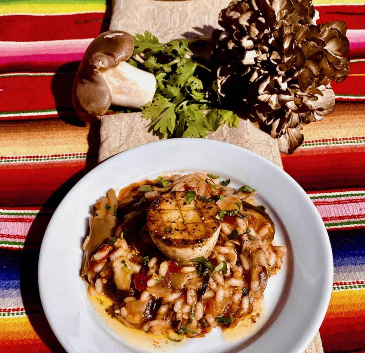 cantina style mushroom risotto